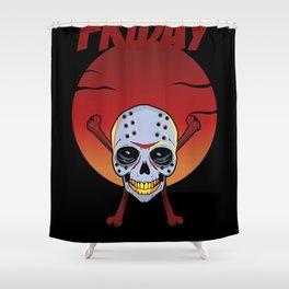 Skullet: Friday Shower Curtain