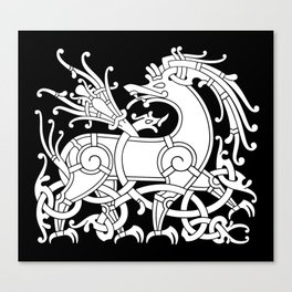 Ringerike Style Ornament IV Canvas Print
