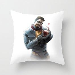 Gordon Freeman and Lamarr Throw Pillow