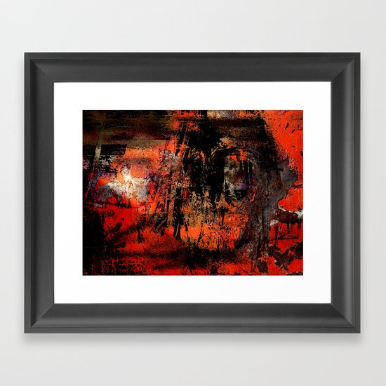 My Red Instinct Framed Art Print