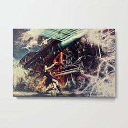 Witch Train Metal Print