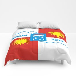 Sochi 2014 flag - Authentic version Comforters