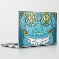 sugar skull Laptop & iPad Skins featuring sugar skull by Ancello