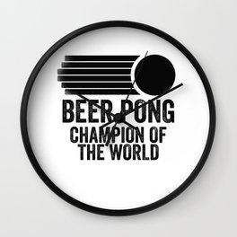 Beer Pong Champion Wall Clock