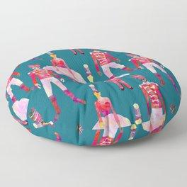 Nutcracker Ballet - Teal Blue Floor Pillow