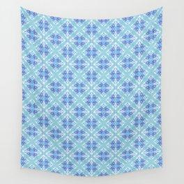 Blue Kaleidoscope Wall Tapestry