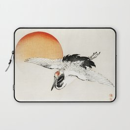 Flying Barn swallow by Kōno Bairei Laptop Sleeve