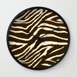 ZEBRA IN WINTER BROWN AND WHITE Wall Clock
