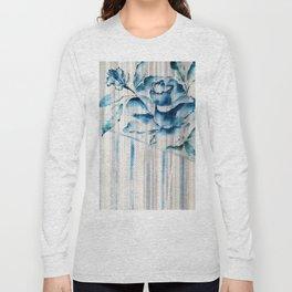 Blue Rose Striped Long Sleeve T-shirt