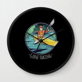 Gone Yaking - Kayak & Kayaking Gift Wall Clock