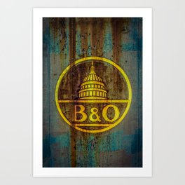 Baltimore and Ohio Railroad Dome Logo Art Print