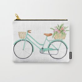 Vintage mint green bicycle Carry-All Pouch