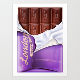 Chocolate bar Art Print