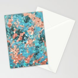 Peachy Green Stationery Cards