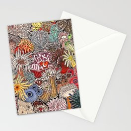 Clown fish and Sea anemones Stationery Cards