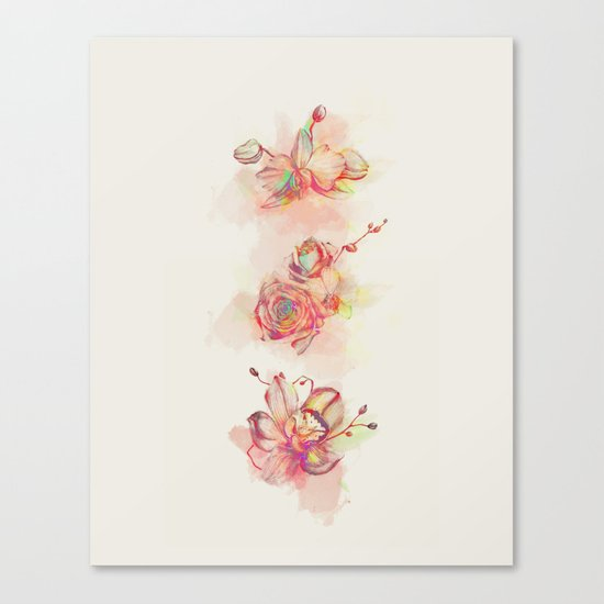 Roses & Orchids Canvas Print