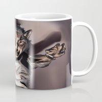 werewolf Mugs featuring Werewolf by Craig Holland Illustration