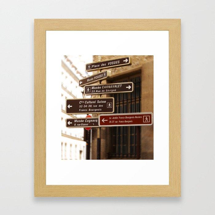 Paris Signage Framed Art Print