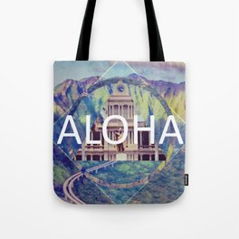 Aloha Blue Geometric Tote Bag