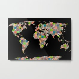 A world of cities (II) Metal Print
