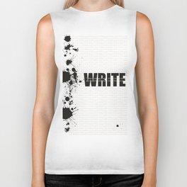 Write Biker Tank