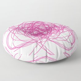 Design mandala PINK ON WHITE Floor Pillow