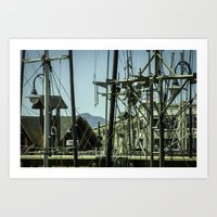 A harbor of San Francisco.  Art Print