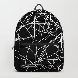 Black and White Simplicity Backpack