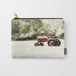 Vintage Red Tractor Carry-All Pouch
