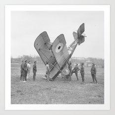 Plane crash. Art Print