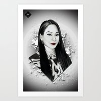 2ne1 Art Prints featuring CL (2NE1) by hope-arts