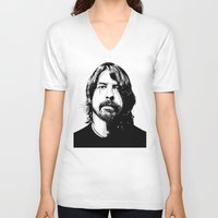 dave grohl V-neck T-shirts featuring DAVE... by mabuna