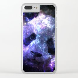 Galaxy Panda Planet Colorful Clear iPhone Case
