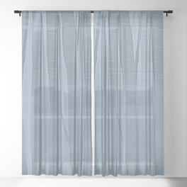 Woodland -  Minimal Blue Birch Forest Sheer Curtain