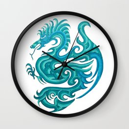 blue dragon Wall Clock