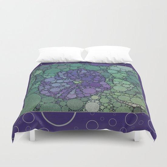 Percolated Purple Potato Flower Reboot  Duvet Cover