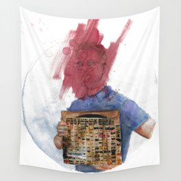 Anti-Portrait with Vinyl The Streets Original Pirate Material Wall Tapestry