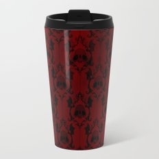 Halloween Damask Red Travel Mug