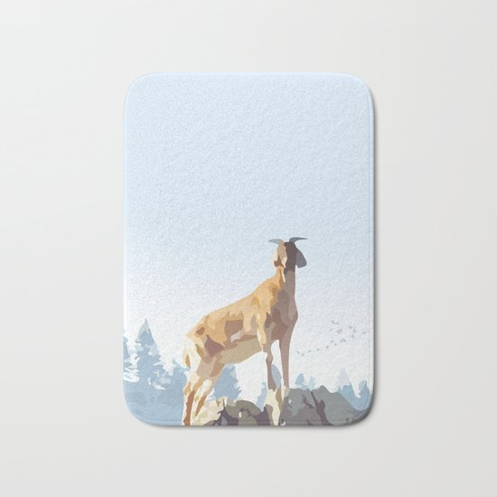 Mountain Goat Bath Mat