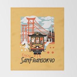 Enjoy San Fransokyo Throw Blanket