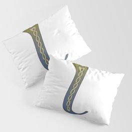 Celtic Knotwork Alphabet - Letter L Pillow Sham
