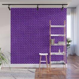 Purple Wire Mesh Pattern Wall Mural