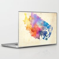 cat Laptop & iPad Skins featuring Sunny Leo   by Robert Farkas