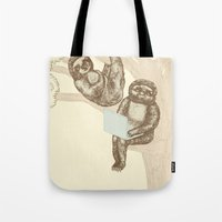 evolution Tote Bags featuring Evolution by Mirisch
