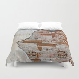 Cracked Facade Duvet Cover