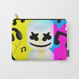 DJ Marshmello Face Black Carry-All Pouch