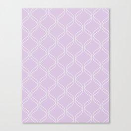 Double Helix - Light Purples #367 Canvas Print