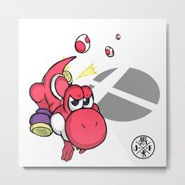 3....2....1...GO! : Yoshi(red) Metal Print