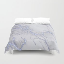 Marble Love Sapphire Metallic Duvet Cover