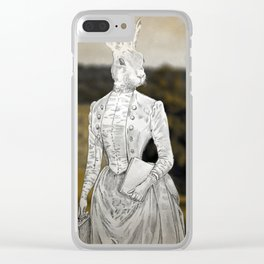 Miss Lagomorph Clear iPhone Case